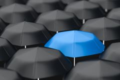 3d rendering, the umbrella with white background royalty free stock photography