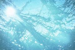 3d rendering underwater sea, ocean surface with light rays, high resolution Stock Image