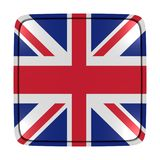 United Kingdom flag icon. 3d rendering of a United Kingdom flag icon. Isolated on white background Royalty Free Stock Photo