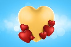 3d rendering valentines day hearts in background. stock photos