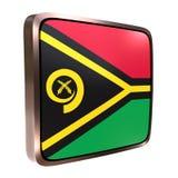 Vanuatu flag icon Stock Image