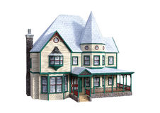 3D Rendering Victorian House on White Royalty Free Stock Photo
