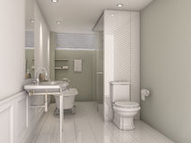 3d rendering vintage green bathroom. 3D Interior rendering by 3ds max Royalty Free Stock Photos