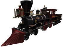 3d Rendering of a Vintage Locomotive Stock Photo