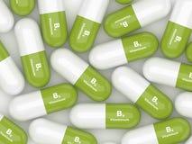 3d rendering of  vitamin B6 pills Stock Photography