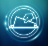 3D rendering vote modern icon interface Stock Image