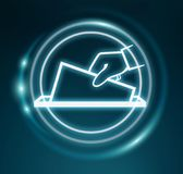 3D rendering vote modern icon interface Stock Images