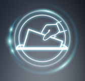 3D rendering vote modern icon interface Royalty Free Stock Images