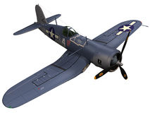 3d Rendering of a Vought F4U Corsair fighter. 3d Rendering of a World War 2/Korean War era Vought F4U Corsair fighter Stock Image