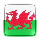 Wales flag icon. 3d rendering of a Wales flag icon. Isolated on white background Stock Photos