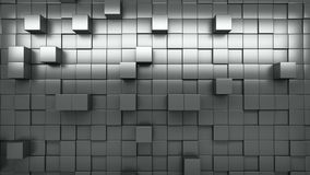 3d rendering wall of extruded cubes stock video footage