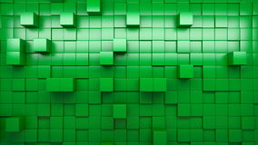 3d rendering wall of extruded cubes stock footage