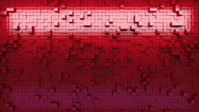 3d rendering wall of extruded cubes stock video