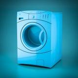 3D rendering washing machine Royalty Free Stock Image