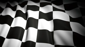 3D rendering of wavy checkered flag Royalty Free Stock Photo