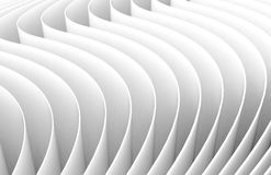 3D rendering wavy paper sheets. Paper texture background for design Royalty Free Stock Image