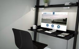 Shelve desktop online web design Stock Image