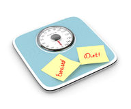 3d rendering of weight scale isolated over white. Background Stock Image