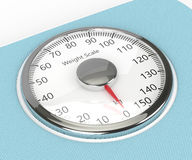 3d rendering of weight scale isolated over white. Background Royalty Free Stock Image