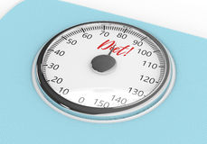 3d rendering of weight scale isolated over white. Background Royalty Free Stock Images