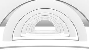3d Rendering of White Arch Construction.  Stock Image
