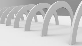 3d Rendering of White Arch Construction. Abstract Architecture  Royalty Free Stock Photography