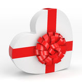 3D rendering White box heart Stock Photography