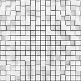 3d rendering of white cubic random level background. 3d rendering of acstract white cubic random level background Royalty Free Stock Image
