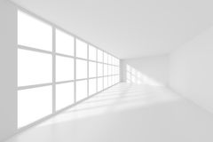 3d Rendering of White Empty Room Stock Images