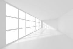 3d Rendering of White Empty Room. Modern Interior Background Stock Illustration