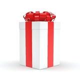 3D rendering White gift box Royalty Free Stock Photo
