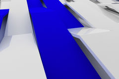 3D rendering of white gloss plastic waves with colored elements Royalty Free Stock Images