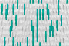 3D rendering of white matte plastic waves with colored elements Royalty Free Stock Images