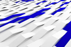 3D rendering of white matte plastic waves with colored elements Royalty Free Stock Image