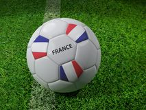 France soccer ball Royalty Free Stock Images