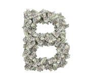 3d rendering wielki odosobniony ampuła listu b robić sto dolarowych rachunków Obraz Royalty Free