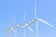 3D rendering wind turbine.  Stock Photos