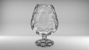 3D rendering of wine glasses stock illustration