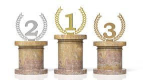 3d rendering of Winners podium Royalty Free Stock Images