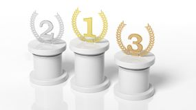 3d rendering of Winners podium Royalty Free Stock Image