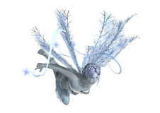 3D Rendering Winter Fairy on White Stock Photography