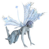 3D Rendering Winter Fairy on White. 3D rendering of a beautiful winter fairy isolated on white background Royalty Free Stock Images