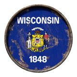 Old Wisconsin flag Royalty Free Stock Photos