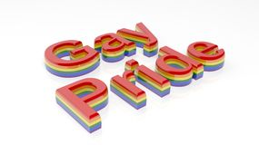 3d rendering words gay pride on white background Royalty Free Stock Photo