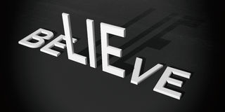 3d rendering words possible and impossible Stock Photo