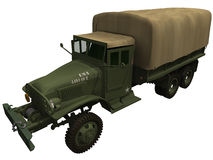 3d Rendering of a World War 2 American Truck Royalty Free Stock Photography