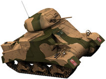 3d Rendering of a World War 2 era M3 Grant Tank. 3d Rendering of a World War 2 era M3 Grant/Lee Tank Stock Photo