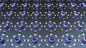 3d rendering wrażenie udział atom z elektronami Zdjęcia Stock