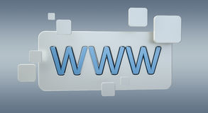 3D rendering www web icon bar. On grey background Royalty Free Stock Photos