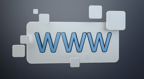 3D rendering www web icon bar. On grey background Stock Photography